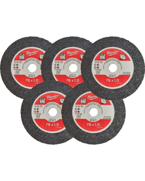 METAL CUT OFF WHEEL BLADE 5PK FOR MILWAUKEE M12FCOT SAW