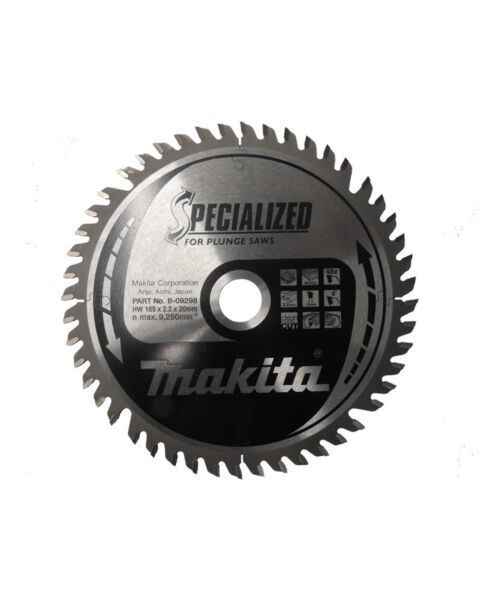 MAKITA B-09298 165MM 48T BLADE 20MM FOR SP6000K PLUNGE SAW