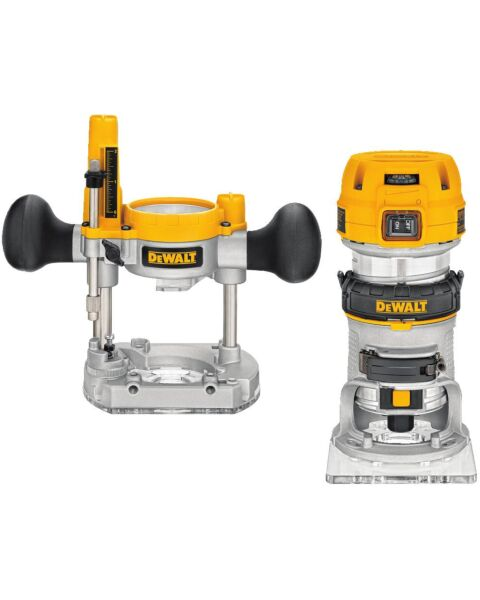 DEWALT 8MM 900W ROUTER 110V COMBINATION PLUNGE/FIXED BASE