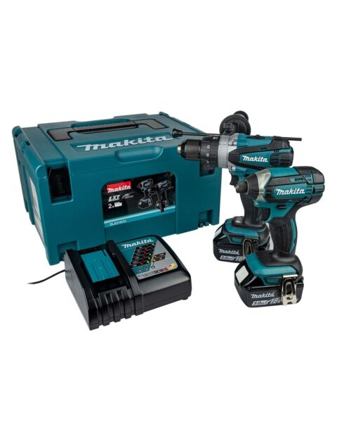 MAKITA 18V TWIN KIT DHP458 DTD152 2 X 5.0AH