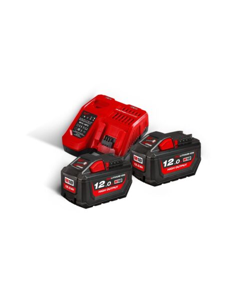 MILWAUKEE M18HNRG 18V 12.0AH TWIN PACK & M12-18FC CHARGER