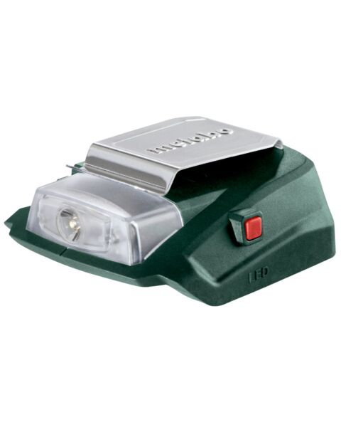 METABO PA14.4-18 LED USB POWER ADAPTOR AND LIGHT