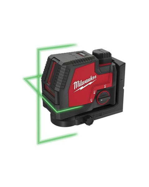 MILWAUKEE L4CLL-301 GREEN RECHARGEABLE CROSS LINE LASER