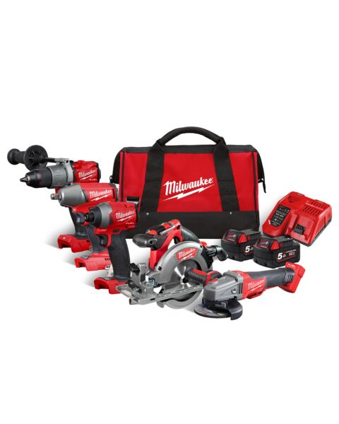 MILWAUKEE M18FPP5M M18 18V FUEL 5 PIECE KIT 2 X 5.0AH