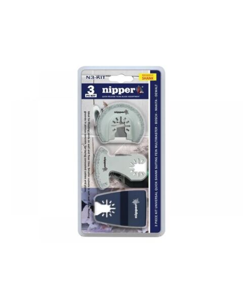 3pc MULTITOOL BLADE TILING KIT NIPPER