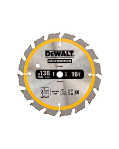 DEWALT DT1946 136MM 16T BLADE FOR TRIMSAW (POSITIVE)