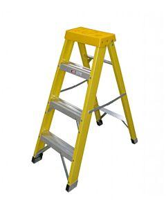 4 RUNG GRP FIBREGLASS STEPS BUILDERS LADDER 300514