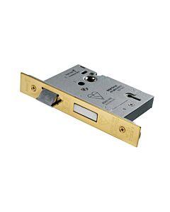 """EUROSPEC LSB5525 5L SASHLOCK B.S. 2.1/2"""" BRASS (PVD)"""