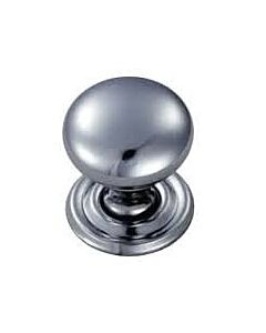 DL47BCP CUPBOARD KNOB 32mm LOOSE ROSE CHROME PLATED