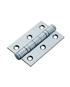 "14851 75MM STAINLESS HINGE *PAIR* 3"" POLISHED BEARING"