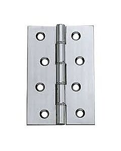 """HDSW1CP 3"""" CHROME HINGE PAIR 75MM (DOUBLE STEEL WASHER)"""