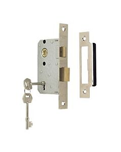 "CONTRACT LSE5325EB 3 LEVER SASHLOCK BRASS 2.1/2"" 63MM"