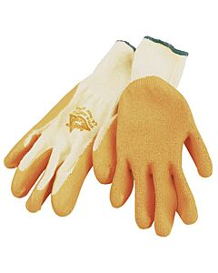 LATEX PALMED GRIPPA GLOVE d/p 2-LCTC LARGE (9) EN240 ORANGE