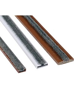 INTUMESCENT STRIP IS14/S10MM WITH BRUSH BROWN 2100