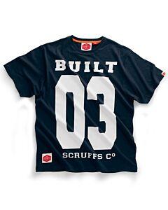 SCRUFFS BUILT 03 TEE SHIRT NAVY SMALL