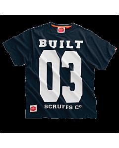 SCRUFFS BUILT 03 TEE SHIRT NAVY MEDIUM