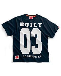 SCRUFFS BUILT 03 TEE SHIRT NAVY XLARGE